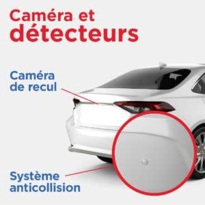 caméra et détecteurs